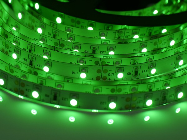 LED-Streifen 60LEDs/m, grün 24V 5m Rolle