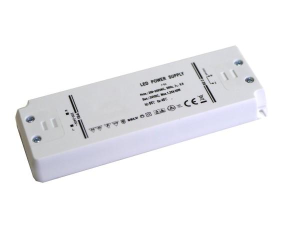 LED Netzteil flach Möbeleinbau 30W 24V