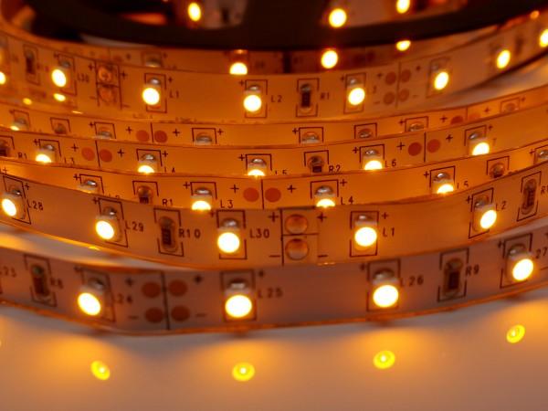 LED-Streifen 60LEDs/m, gelb 12V 5m Rolle