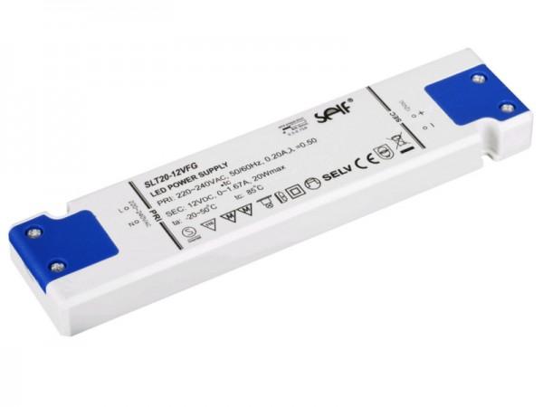 LED Netzteil flach Möbeleinbau 20W 24V
