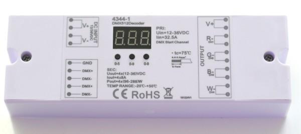 RGBW-DMX-Decoder 4x8A 192W max.