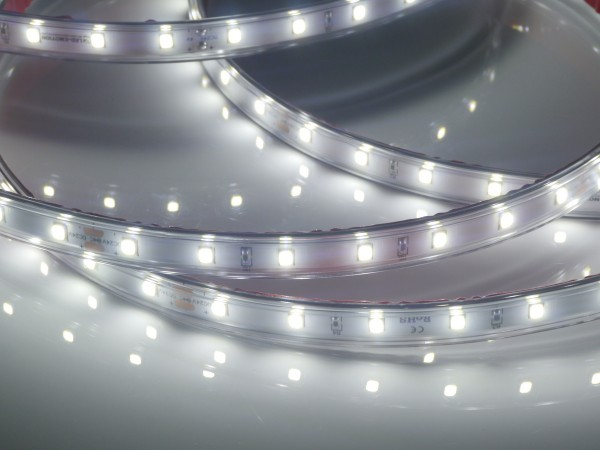 Eco-Line LED-Streifen, 6500K purweiß, 933lm/m, 7,7W/m, 56LEDs/m, in PVC-Hülle 24V, 5m Rolle