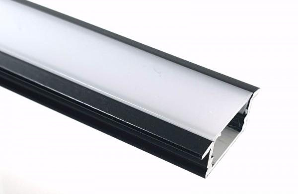 LED-Alu-Profil C-Line flach Einbau schwarz