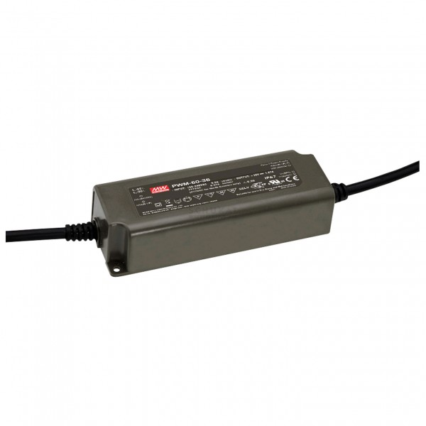 LED-Möbeleinbaunetzteil 24V, 60W, 2.5A, PWM, MM, IP67, 0-10V dimmbar