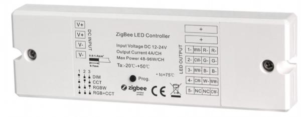 Zigbee LED-Controller RGB+CCT 5-in-1 12-24V 4A