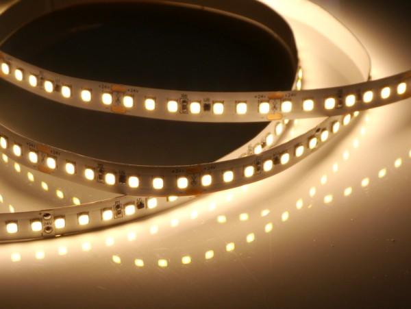 Premium HD LED-Streifen, 3000K warmweiß, 2520lm/m, 19,2W/m, 140LEDs/m, 24V, 5m Rolle