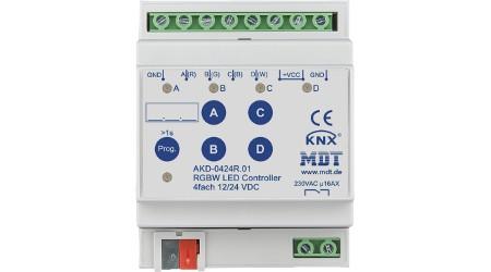4-Kanal KNX RGBW LED Controller 12/24V Hutschiene