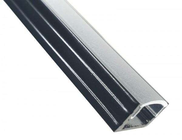 LED-Alu-Profil C-Line flach schwarz