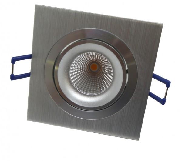 LED-Einbaustrahler schwenkbar, quadratisch, silber