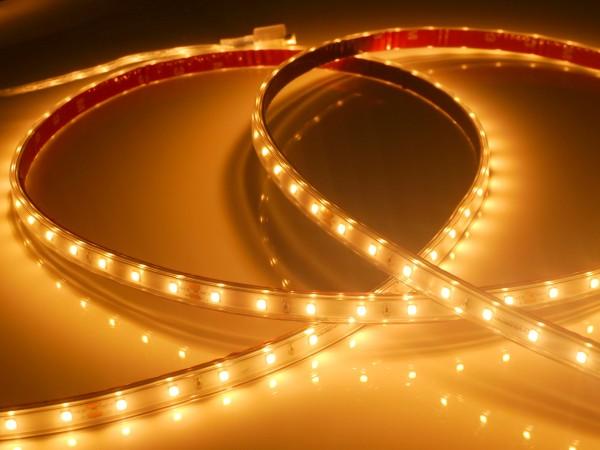 Eco-Line LED-Streifen, 2300K candlelight-warmweiß, 700lm/m, 7,7W/m, 56LEDs/m, in PVC-Hülle, 24V, 5m