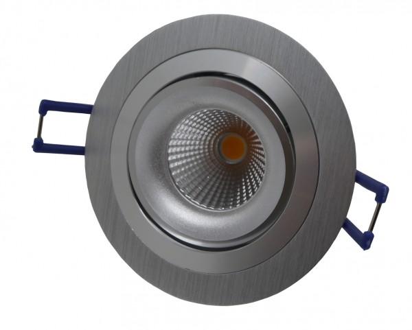 LED-Einbaustrahler schwenkbar, rund, silber