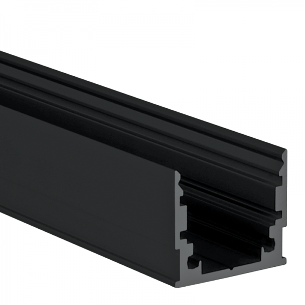 Alu-U-Profil M Standard schwarz