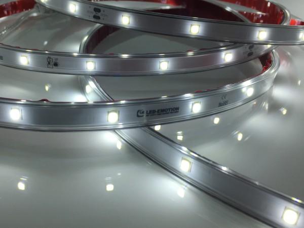 Premium Backlight LED-Streifen, 6500K purweiß, 467lm/m, 3,8W/m, 28LEDs/m, in PVC-Hülle, 24V, 5m