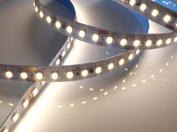 Premium+ HD LED-Streifen, 4000K neutralweiß CRI>90, 2624lm/m, 19.2W/m, 140LEDs/m, 24V, IP20