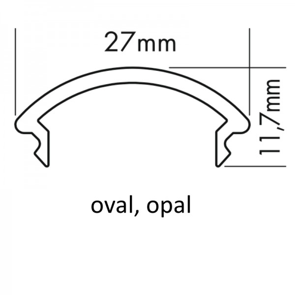 PMMA-Abdeckung M oval opal