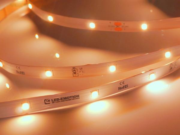 Eco Backlight LED-Streifen, 2300K candlelight warmweiß, 447lm/m, 3.8W/m, 28LEDs/m, 24V