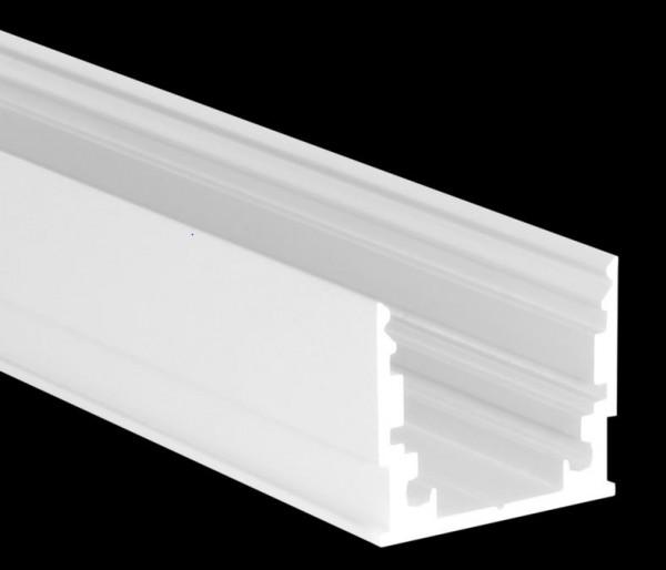 Alu-U-Profil M Standard weiß