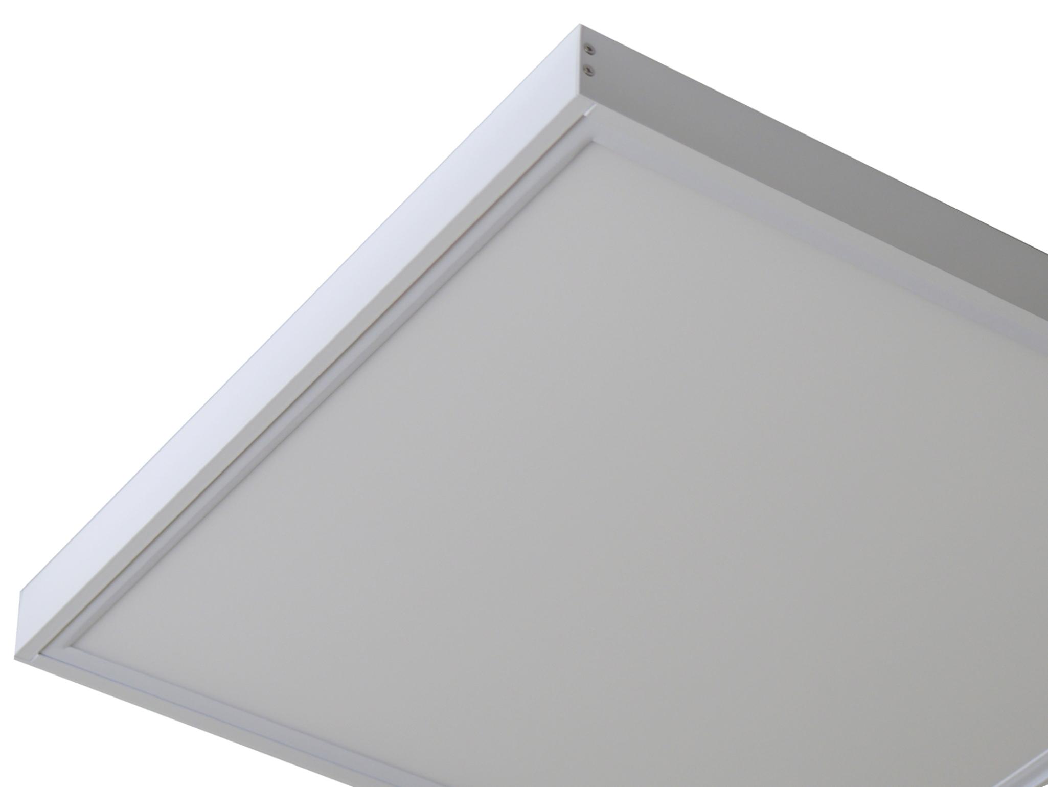 aufbaurahmen f r led panel 620x620 wei led panel led leuchten led emotion. Black Bedroom Furniture Sets. Home Design Ideas