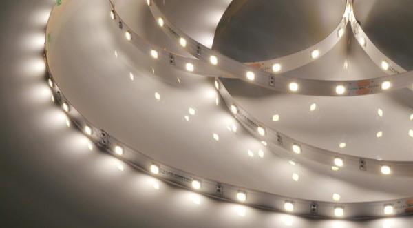 Eco-Line LED-Streifen, 4000K neutralweiß, 1089lm/m, 7,7W/m, 56LEDs/m, 24V, 5m Rolle