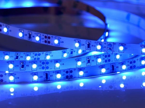 LED-Streifen 60LEDs/m, blau 12V 5m Rolle